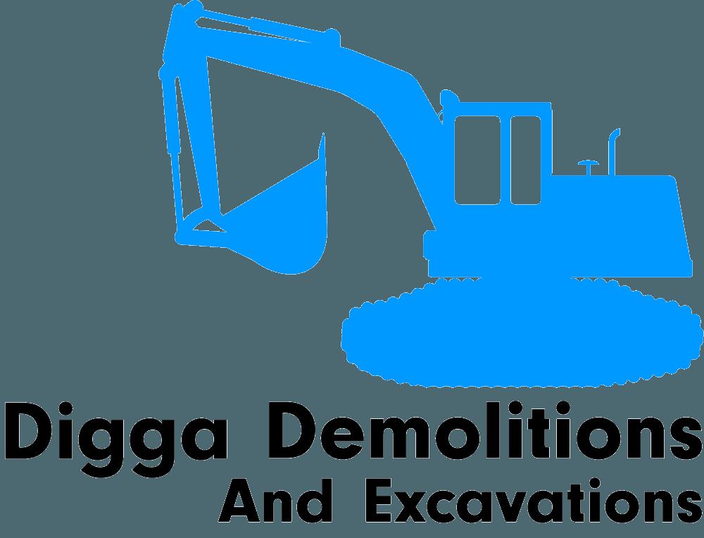 digga demolitions and excavations logo