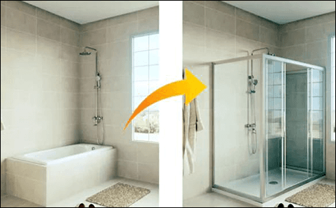 trasformazione vasca da bagno in box doccia