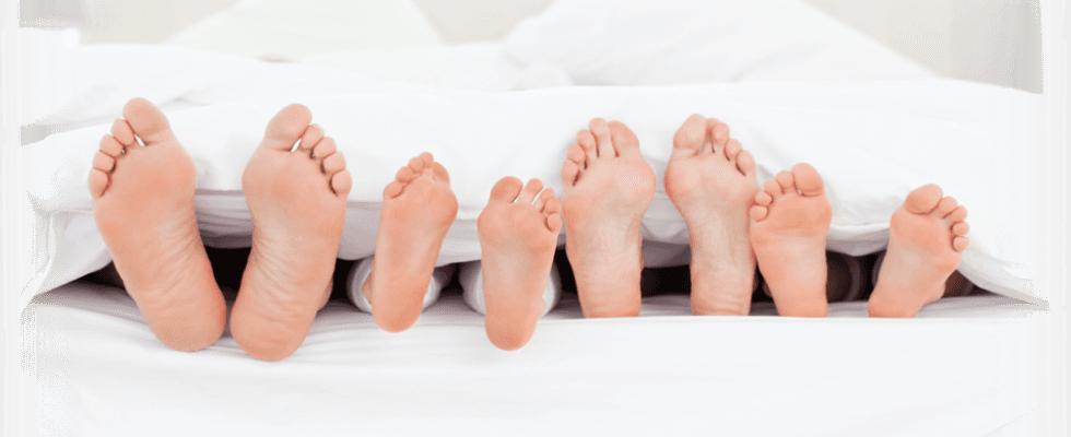 piedi sani di una famiglia