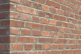 Close up of red bricks