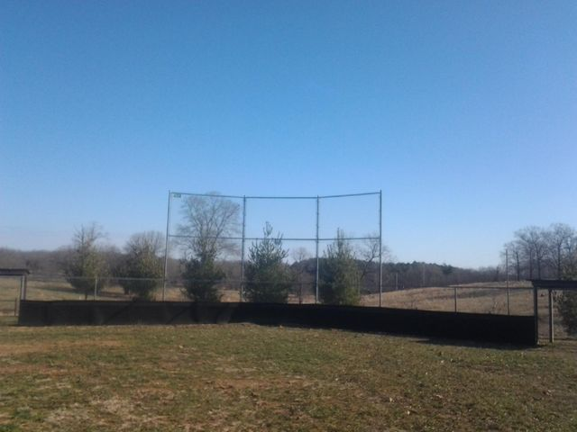 Baseball backstop in Peace Valley, MO