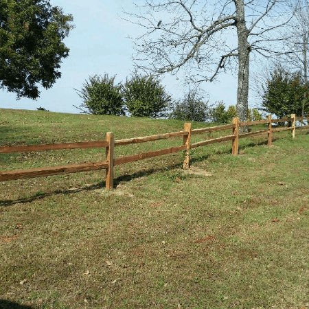 Cedar Split Rail Fence  Gamaliel, Arkansas
