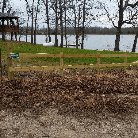 Two Tail Treated Fence Arrowhead Lakes, West Plains, Missouri