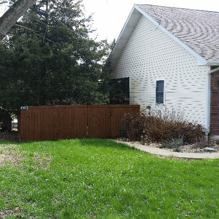 Cedar Privacy Fence with Top and Bottom Trim West Plains, MO