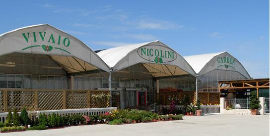 entrata del vivaio Nicolini Garden