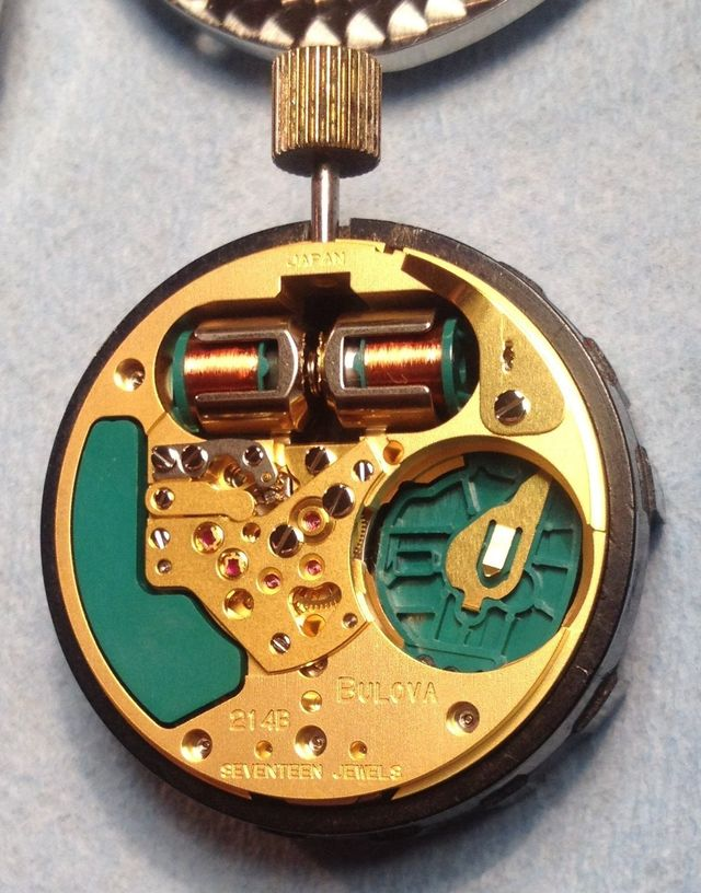 Accutron 50th anniversary spaceview  movement back Budget Accutron Service