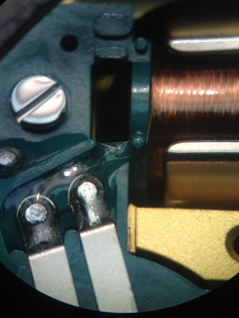 Accutron 50th anniversary spaceview coil detail  Budget Accutron Service