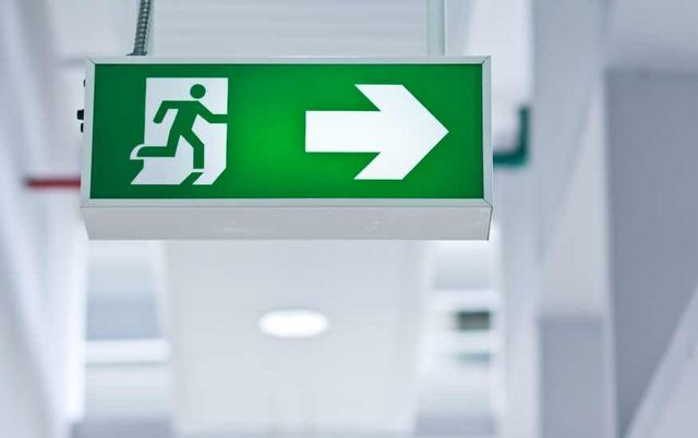 commercial emergency light installation