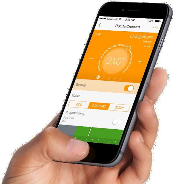 Heating controlled via App