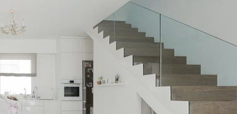 Stainless steel glass balustrade fixings in Sheffield