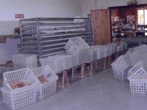 laboratorio artigianale del panificio