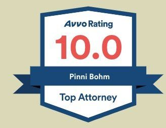 Estate Planning and Probate Attorney Pinni Bohm's Avvo Award for Brooklyn, Manhattan, and Bronx
