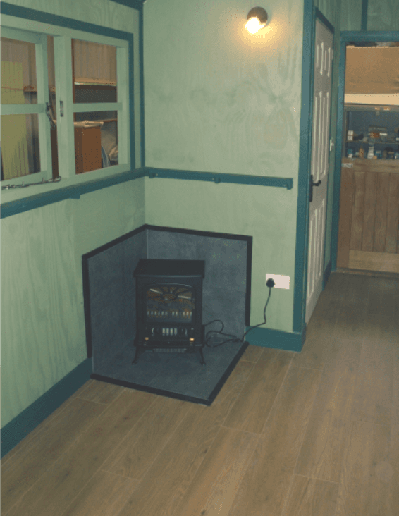 Stoves — either electric or wood-burning