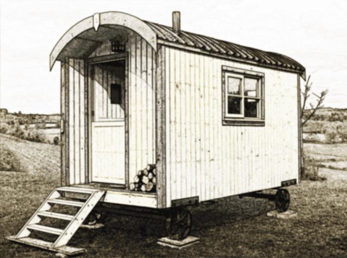 traditional UK Shepherd Huts