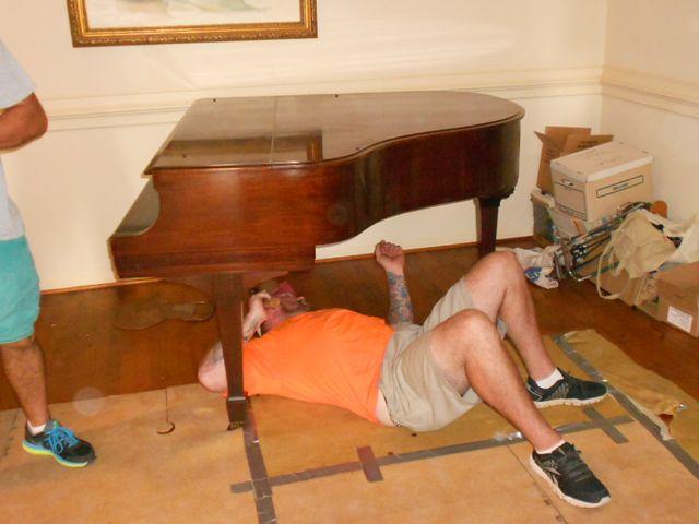 Piano moving services underway in Ozark, AL