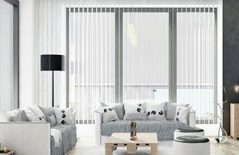 French window blinds