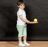 small boy with a ball