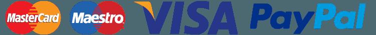 VISA PayPal MAESTRO logos