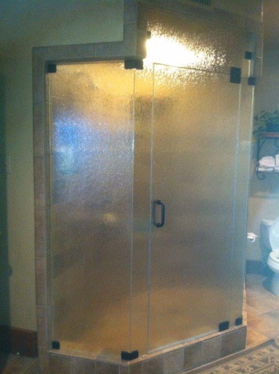 Custom shower glass done by Custom Glass and Mirror
