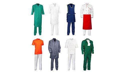 L'insieme dei vari abiti da lavoro