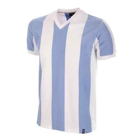 una maglia con le righe di color bianco e azzurro