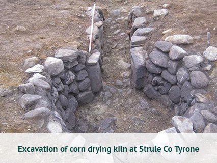 Excavation of corn drying kiln at Strule Co Tyrone