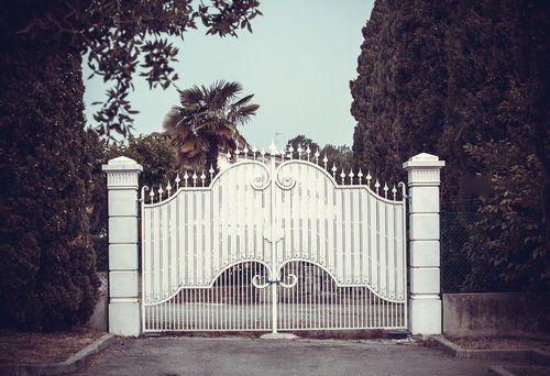 vista frontale cancello