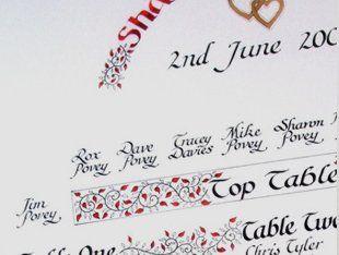 wedding calligraphy service