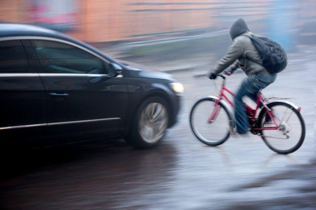 Bike accident on road