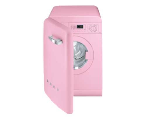 una lavatrice rosa