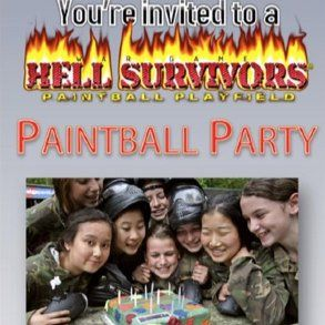 Paintball airsoft parties outings hell survivors download a birthday party invitation stopboris Images