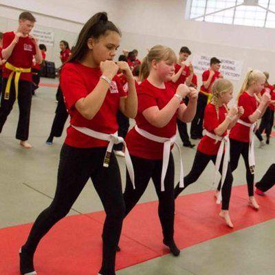 ladies practicing