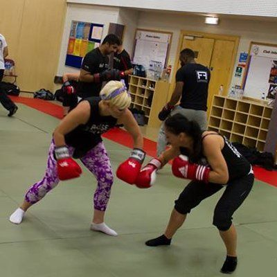 ladies learning self defence