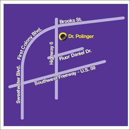 Location map in Sugar Land