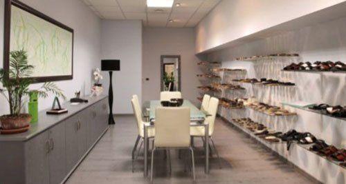 sala riunioni ed esposizione di nuovi modelli del Tacchificio Nuova Valdichieti