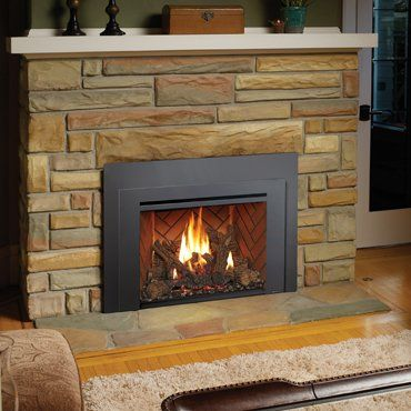 fireplace with gas inserts