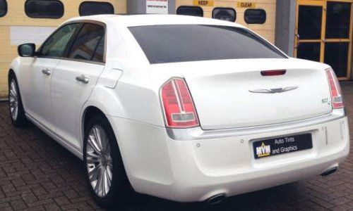 white car after window is tinted