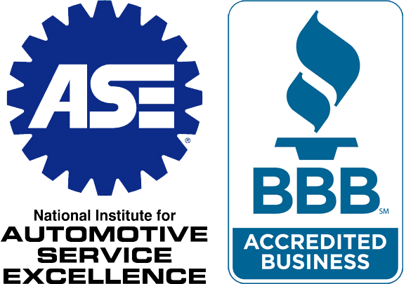 Our business is accredited by the BBB and the ASE