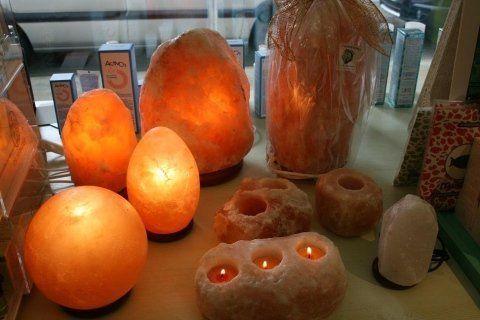 lampade di sale e portacandele di sale