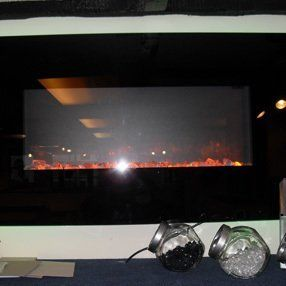 ember effect glass fronted fire