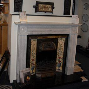 victorian tiled fireplace and surround