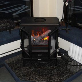 electric wood burning stove effect