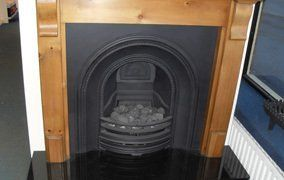 traditional victorian cast iron fireplace