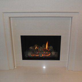 white fire in white surround