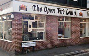 open fire centre showroom