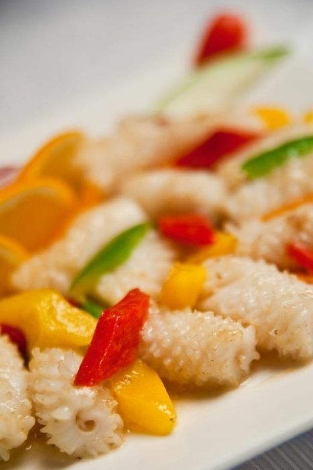 cucina al vapore, frittura di pesce, tempura