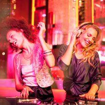 ladies enjoying in a party