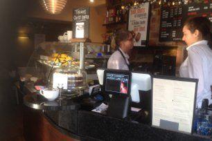 Touch screen cash register