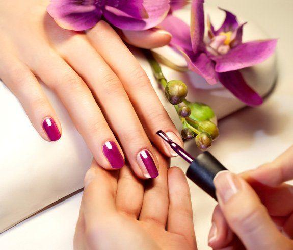 OPI coloured gel nails