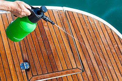 Boat Teak Deck Maintenance and Cleaning